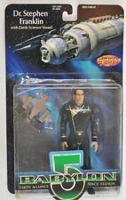 Babylon 5 1997 Dr. Stephen Franklin Action Figure w/ Earth Science Vessel