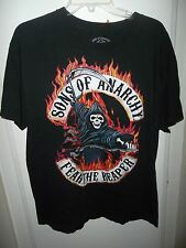 Sons of Anarchy Fear The Reaper Logo Adult Black T-Shirt Men's Medium Licensed