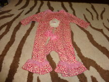 BOUTIQUE CACHCACH CACH CACH 6M 6 MONTHS LEOPARD CHEETAH PINK FLOWER OUTFIT