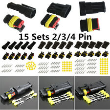 Sealed II/III/IV Pin Electrical Wire Connector Motorcycle ATV Terminal Plug 15x