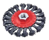 "TWIST KNOT WIRE WHEEL BRUSH FOR ANGLE GRINDER 4"" (100mm)"