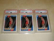 2016-17 Panini NBA Hoops #261 Ben Simmons Rookie RC PSA 9 MINT 3 Card Lot