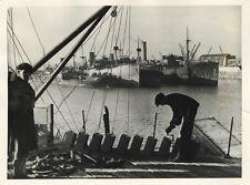 Photo Argentique PortMarine Marchande 1940`