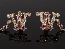 Emperor König - Wilhelm I - Manschettenköpfe Cufflinks, um 1887 – Gold Diamonds