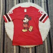 New listing Disney Women's Football Style Mickie Mouse Tee Shirt Size Xl