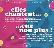 163 // COFFRET 2 CD DIGIPACK ELLES CHANTENT EUX NON PLUS NEUF SOUS BLISTER