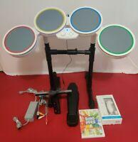 Nintendo Wii/Wii Rock Band BUNDLE DRUM & BAND HERO GAME controller
