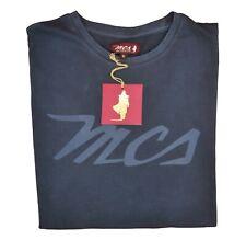 T-shirt MARLBORO CLASSICS MCS uomo maniche corte estiva blu con stampa