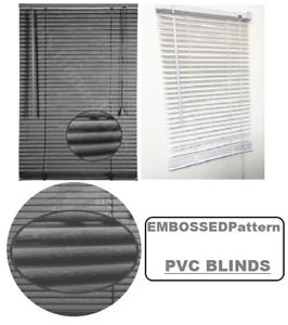 PVC Venetian Blinds Window Blind Easy Fit Trimable All Sizes Home Office New UK