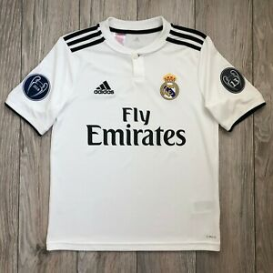Real Madrid 2018-2019 Champions League Shirt Jersey Youth L boys 13-14 years