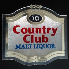 Vintage Country Club Malt Liquor Lighted Sign