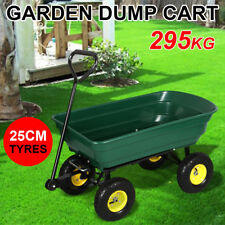 New Garden Cart Dump Outdoor Garden Hand Trailer Wagon Hand Folding Cart Green