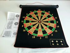 Magnetic Roll-Up Dartboard and Bulls Eye Game with Darts family game.