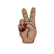 2pcs Finger Patch Victory Hand Patch Miyazaki Patch Iron On Sew on Embroidered.