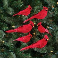 Darice Natural Burlap Pinecones Feathers Bird Clip Wreath Christmas Ornament