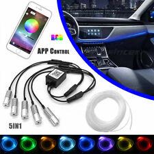 5IN1 RGB Neon LED Innenbeleuchtung Kit Auto Ambientebeleuchtung Lichtleiste APP