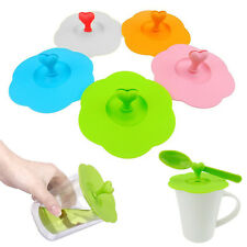 5pcs of Cover Cup Lid Silicone Mug Suction Seal Cap Anti Dust Airtight UK