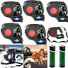 5X 5M Dog Traction Rope Training Leashes Retractable 3LED Light With Garbage Bag