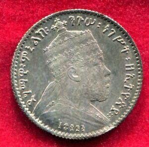 Ethiopia - EE1889A 1 Gersh KM#12 in Toned Unc