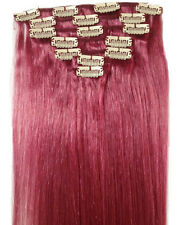 """USA Stock 16""""18""""20""""22""""24""""26""""30"""" 7Pcs Clip In 100% Real Remy Human Hair Extension"""