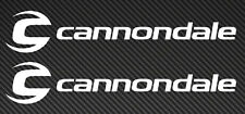 2x CANNONDALE Bicycle Bike MTB Mountain Road Frame Car Window STICKER DECAL