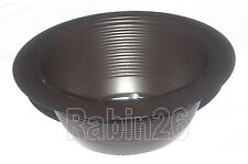 """6"""" CEILING RECESSED LIGHT BRONZE BROWN STEP TRIM BAFFLE R30 FITS HALO JUNO CAN"""