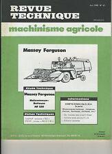 (1A)REVUE TECHNIQUE MACHINISME AGRICOLE MASSEY FERGUSON 520 / TAARUP / STEYR