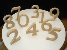 Standing Wooden Numbers 14.5cm High Unpainted MDF 18mm Thick
