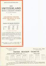 SEE SWITZERLAND WITH A SEASON TICKET.1939. SWISS RLYS
