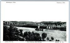 POMEROY BEND BRIDGE between MIDLEPORT- POMEROY OH & Clifton-Mason W. VA Postcard