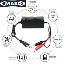 Cargador de Batería de Plomo 12V 1A 5-10ah para Moto del Patio Coche de