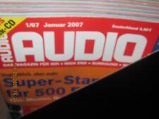 Audio Hifi Magazin Zeitschrift ,kompletter Jahrgang 2007 Heft 1-12