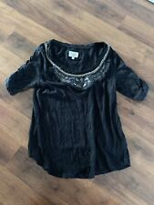 Anthropologie Deletta Shirt Womens Size Small S Top
