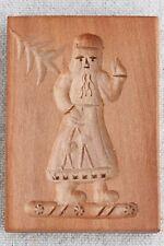 Wooden Santa Christmas Tree Springerle Butter Cookie Stamp Mold Otto Schmidt