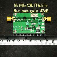 42dB 1Mhz-800Mhz 433Mhz HF FM transmission RF UVF Linear power Amplifier 2W