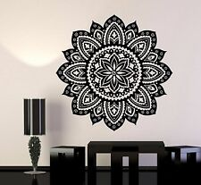 Vinyl Wall Decal Yoga Studio Mandala Lotus Flower Home Decor Stickers (706ig)