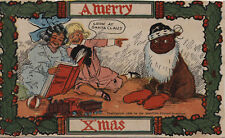 """""""A Merry Xmas"""" - Vintage Post Card from N.Y. Sunday American & Journal Paper"""