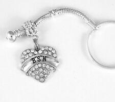 BSN jewelry BSN Nurse key chain Nursing gift RN Nurse Present BSN Nurse keychain
