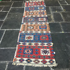 "ANTIQUE WEST ANATOLIAN CINE / AYDIN  KILIM 1830 RUG  2'8"" x 9'9"" collectible"
