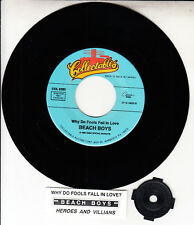 """THE BEACH BOYS  Why Do Fools Fall In Love & Heroes And Villains 7"""" 45 record NEW"""