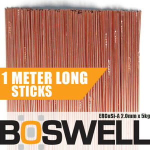 Boswell - 2.0mm x 5KG Silicon Bronze ERCuSi-A TIG FILLER RODS Welding Wire Rod