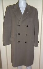 Mens Vintage Brooks Brothers Double Breasted Long Winter Wool Dress Pea Coat 39R