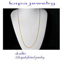 Gold Chain Men Womens 23in 18ct Goldplated Necklace 2mm thick Curb Chain  A11