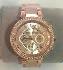OEM Michael Kors Parker Rose Gold-Tone Watch MK5774