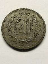 1920 Mexico 20 Centavos Bronze VF++ #15039