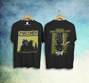 Vintage 80s 7 Seconds 1989 Soulforce Revolution Tour Concert Band T-Shirt rprnt