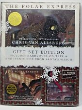 Polar Express Gift Set Edition HC Book CD Cassette Tape Souvenir Bell 2004