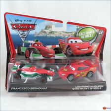 Disney Pixar Cars 2 Francesco Bernoulli & Lightning McQueen with Party Wheels