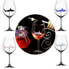4×Home The Original Shark Red Wine Glass-Handmade Crystal For Party Flutes Glass