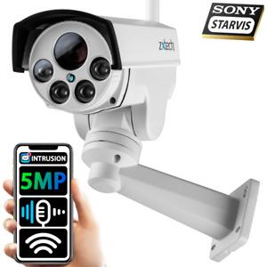 5MP/4MP 60M  Night Vision IR Pan Tilt Zoom Wireless PTZ IP Bullet  CCTV Camera